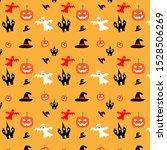 halloween vector pattern...   Shutterstock .eps vector #1528506269