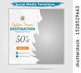 template post for social media... | Shutterstock .eps vector #1528529663