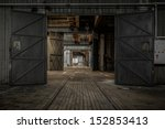Large Industrial Door In A...