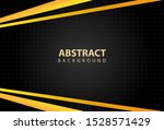 geometric yellow and black... | Shutterstock .eps vector #1528571429