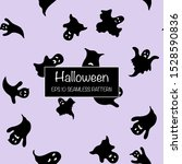 halloween seamless pattern with ... | Shutterstock .eps vector #1528590836