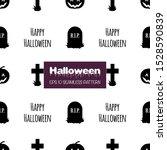 halloween seamless pattern with ... | Shutterstock .eps vector #1528590839