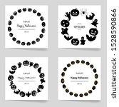 halloween set of frames for... | Shutterstock .eps vector #1528590866