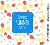 summer seamless pattern with... | Shutterstock .eps vector #1528624889