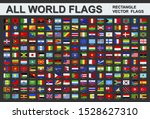 all world flags   vector set of ... | Shutterstock .eps vector #1528627310