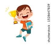 happy cute kid boy win game...   Shutterstock .eps vector #1528647839
