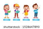 happy cute kids basic learning...   Shutterstock .eps vector #1528647893