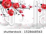 3d illustration of flower... | Shutterstock . vector #1528668563