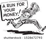 a run for your money   retro...   Shutterstock .eps vector #1528672793