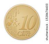 Ten Euro Cent On A White...