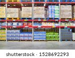 Small photo of SHENZHEN, CHINA - APRIL 22, 2019: interior shot of Sam's Club store in Shenzhen. Sam's Club is an American chain of membership-only retail warehouse clubs owned and operated by Walmart Inc.