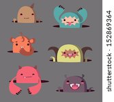 cute monsters | Shutterstock .eps vector #152869364