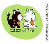 gemini astrological zodiac sign ... | Shutterstock .eps vector #1528745729