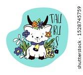 taurus astrological zodiac sign ... | Shutterstock .eps vector #1528745759