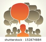 people chatting. vector... | Shutterstock .eps vector #152874884