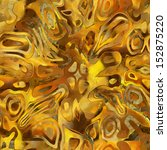 Art Abstract Chaos Golden And...