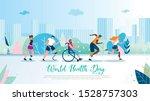 world health day flat vector... | Shutterstock .eps vector #1528757303