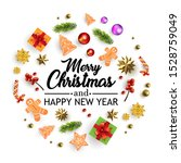 christmas background with... | Shutterstock .eps vector #1528759049