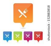 restaurant pin icons | Shutterstock .eps vector #152883818