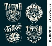 vintage tattoo salon emblems... | Shutterstock .eps vector #1528842773