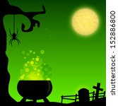 magic halloween background with ...   Shutterstock .eps vector #152886800