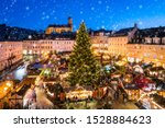 Traditional German Christmas market in Annaberg-Buchholz in the Erz Mountains, Saxony, Germany