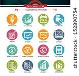 economics icons colorful... | Shutterstock .eps vector #152890754