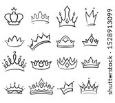 simple hand drawing crown set | Shutterstock .eps vector #1528913099
