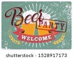 beer party typographical... | Shutterstock .eps vector #1528917173