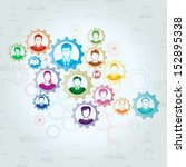 teamwork concept | Shutterstock .eps vector #152895338