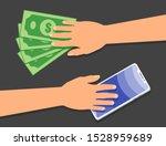second hand mobile phone...   Shutterstock .eps vector #1528959689