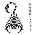 scorpio. tattoo maori tribal...   Shutterstock .eps vector #1528965656