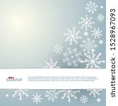 snowfall frozen greeting card.... | Shutterstock .eps vector #1528967093