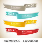 set of ribbons. infographic... | Shutterstock .eps vector #152900000