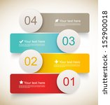set of infographic banners | Shutterstock .eps vector #152900018
