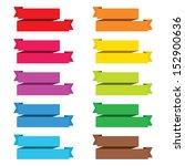 popular color pack ribbon paper ... | Shutterstock .eps vector #152900636
