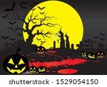 the night of halloween. that... | Shutterstock .eps vector #1529054150