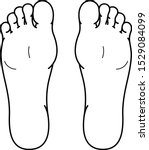 left and right foot soles....   Shutterstock .eps vector #1529084099