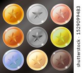 vector gold  silver  bronze and ... | Shutterstock .eps vector #1529099483