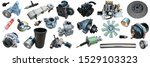 lot of new auto spare parts.... | Shutterstock . vector #1529103323