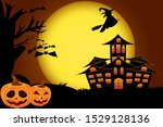 halloween atmosphere with...   Shutterstock .eps vector #1529128136
