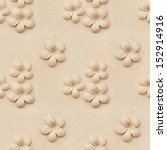 Seamless Plumeria Carved Stone