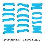 flat ribbons banners vector.... | Shutterstock .eps vector #1529156879