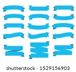 flat ribbons banners. vintage... | Shutterstock .eps vector #1529156903