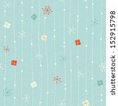 seamless vintage winter pattern | Shutterstock .eps vector #152915798