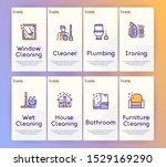 cleaning service linear icons... | Shutterstock .eps vector #1529169290