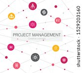 project management trendy web... | Shutterstock .eps vector #1529203160