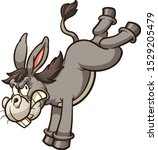 angry cartoon donkey throwing a ... | Shutterstock .eps vector #1529205479