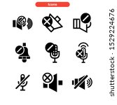 mute icon isolated sign symbol...
