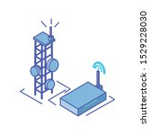 telecommunications tower with...   Shutterstock .eps vector #1529228030